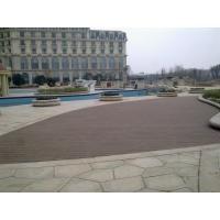 Quality Moisture Resistant Hollow WPC Deck Flooring Board , Outside Garden Wood Tiles for sale