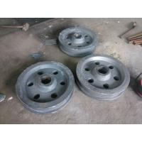 Quality HRC42 CrMo4 Alloy Steel Castings Customized Stacker Travelling Wheel for sale