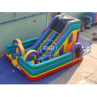 Quality Bouncy obstacle slide playground combo for sale