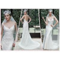 Quality Low Back Straps Lace wedding dress #5MN672 for sale