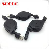 China Custom Length Retractable Power Cord / Power Cable Assembly For Hair Straightener for sale