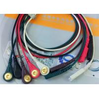 Quality LL Style ECG Monitor Cable , 5 Leads Snap AHA Ecg Cables And Leadwires for sale