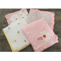 Quality Embroidered Ruffle Baby Sleep Cover , Luxury Cotton Bedding Sets For Baby Cribs for sale