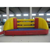 Quality Indoor Playground Kids Inflatable Sports Games Inflatable Boxing Ring 4.5 X 4.5m for sale
