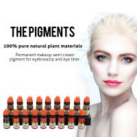 Quality OEM Pure Natural Plant Semi Permanent Makeup Pigments For Eyebrow Tattoo for sale