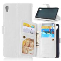 Sony Xperia Z3 Z4 C5 Z5 Premium M4 Aqua Wallet Case Cover Bags Pouch 9 Cards Slot Holder