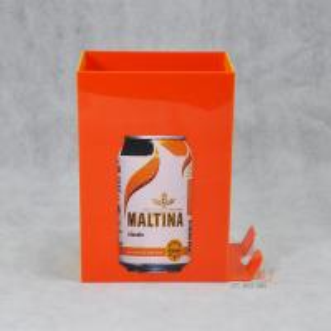 Buy Orange Acrylic Food Display Stands / Beverage Display Rack For Can Beverage at wholesale prices