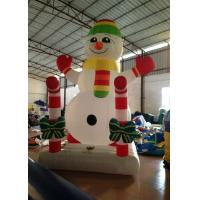 Quality Customized Holiday Inflatable Christmas Decorations Snowman 3.5 X 2.5 X 4m for sale