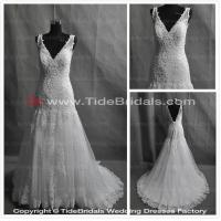 Quality white/Ivory Lace wedding dress bridal gown #SW001 for sale