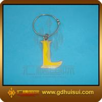 Quality high quality yellow color letter shaped bottle charm for sale