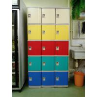 Quality Strong / Beautiful Employee Storage Lockers 5 Comparts 1 Column For Public Place for sale