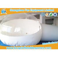 Quality White / Clear Inflatable Bubble Tent , Inflatable Snow Globe Christmas Decorations for sale