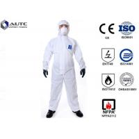 Quality Comfortable PPE Safety Wear , Chemical Protective Suit Breathable Optimum Fit for sale