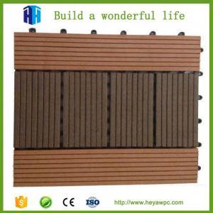 Quality Superior quality exterior waterproof grey composite plastic wood floor tile decks for sale