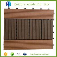 Buy cheap Superior quality exterior waterproof grey composite plastic wood floor tile from wholesalers