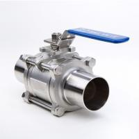 2 Way Welding Stainless Steel Threaded Ball Valve For Gas And Water for sale