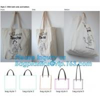 China Custom Shopping Organic Cotton Bag Handle Bag,Latest popular 100% cotton handle shopping bag,jute long cotton webbing ha for sale