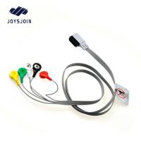 China HP Digitrak XT holter 10-lead snap wires ,AHA TPU material patient cable for ecg machine on sale
