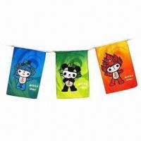 Quality Bunting Flags, Made of Polyester/Paper/PE Materials for sale