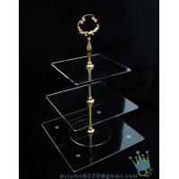 Quality CD (38) golden stick 3 tiers cake stand for sale