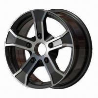 Quality Car Alloy Wheel of Aftermarket, with Black Full Polish, Measuring 15 x 6.5/16 x 6.5 Inches for sale