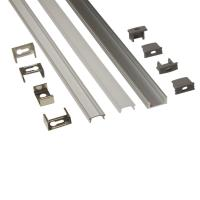 Buy Silver Matt Square / Round Anodized Aluminium LED Profiles For LED Frame at wholesale prices