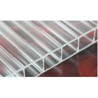 Quality Transparent Skylight Commercial Greenhouse Polycarbonate Hollow Sheet Uv Coated for sale