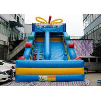 Quality Blue Candy Commercial Inflatable Slide For Garden Or Backyard  bouncy house for sale