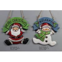 Quality Ceramic Christmas Snowman Pendant Gift With Merry Christmas And Welcome Wording for sale