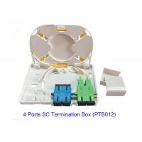 Quality 4 Port SC Fiber Optic Terminal Box PTB012 For FTTX Network RoHS Approved for sale