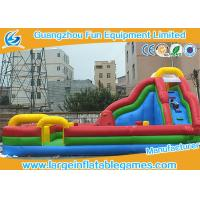 Quality Kids Funland Inflatable Amusement Park With Slide And Climbing Wall To Bounce On for sale