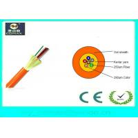 Quality Indoor Distribution 12 Strand  Fiber Optic Cable , Loose Tube Fiber Cable GJFJV for sale