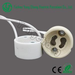 China GU10 led holder halogen ceramic base on sale
