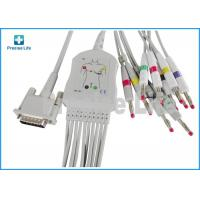 Quality Ph one piece type M3703C ECG Monitor Cable 10 lead with banana 4.0 for sale