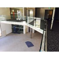 Quality Modern design glass railing with stainless steel standoff  for veranda for sale
