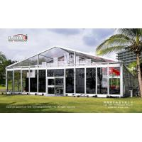 Liri Tent 15x25m Full Transparent Glass Tent For 400 people annual meeting outside for sale