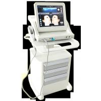 Quality Super Stand Stype Three Heads Face Lifting Hifu Machine , 800w Power Skin Rejuvenation 10000 Shots for sale