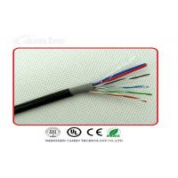Quality Cat6 Siamese Cable With Power , Cat6 Ethernet Cable For CCTV Camera RoHS Complied for sale