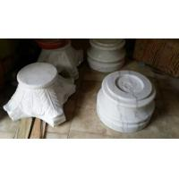 Marble Column Top and Base Guangxi White Marble Roman Column Cap Ionic Column Plinth for sale