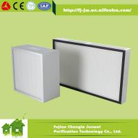 Quality Mini pleat HEPA Filter for HVAC System Air Purifier and Cleanroom or Medical Air Filtration for sale