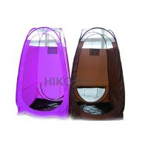 Quality Black PE Waterproof Pop Up Spray Tanning Tent with Leak Proof Stain Resistant Floor OEM for sale