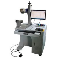 Quality Stainless Steel Cylinder Fiber Laser Marking Machine with Rotary Axis AC110V for sale