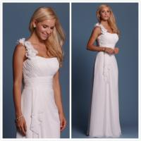 Quality Sheath Chiffon Beach wedding dress Bridal gown#6461 for sale