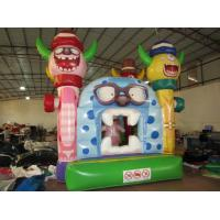 Quality Little Monsters Inflatable Kids Bounce House Digital Painting Inflatable Monsters Bounce For Hallowmas for sale