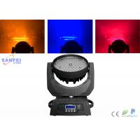 Quality 108pcs 3w RGBW LED Beam Moving Head Light , Moving Head Wash Light  For Home Party DJ for sale