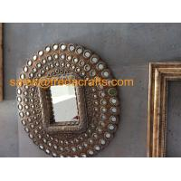 Buy cheap High Quality New Design Round PU decorative Wall Mirror For Living room/Hotel from wholesalers