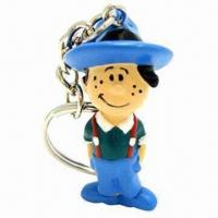 Quality Cowboy Design PVC Keychain, 3D PVC Injected Keychain Can Be Made at Your Specifications for sale