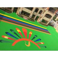 Quality Kindergarten / Playground Cushioning Material Wear Resistant Rubber Floor for sale