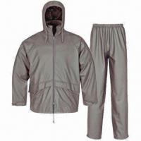 Quality PU Rainwear for Adults, Waterproof 3,000mm, Jacket and Pants for sale