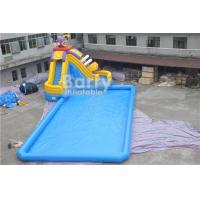 CE Certificate Inflatable Water Park , Inflatable Pool With Piranha Slide for sale